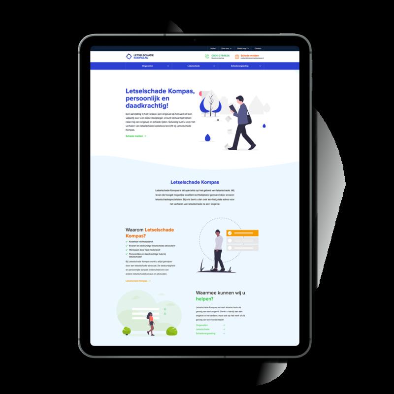 Website realisatie Letselschade Kompas