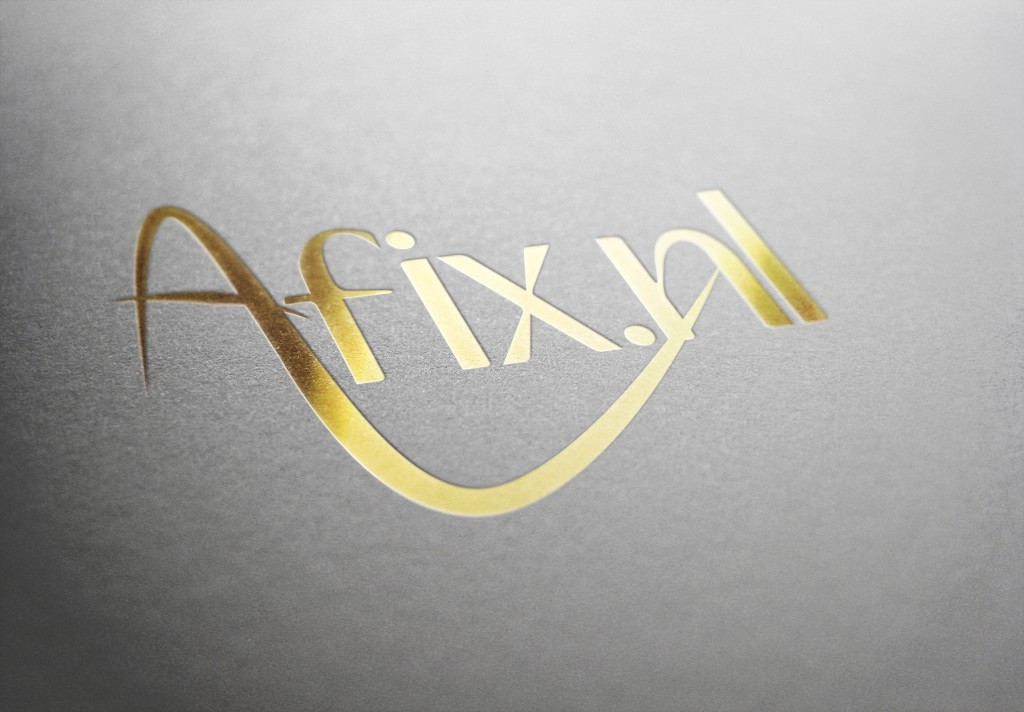 Afix logo in goud